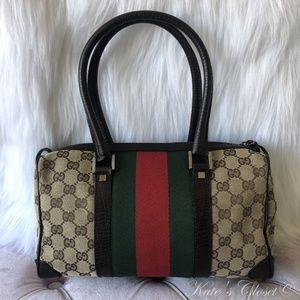 GUCCI GG Canvas Webbing Shoulder Bag
